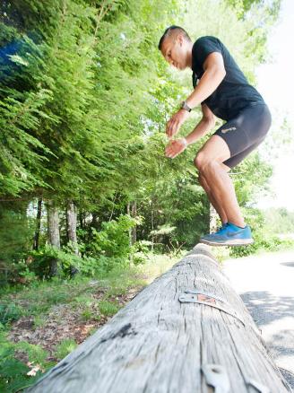 Local paper log jump