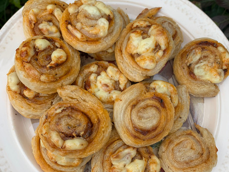 Puff Pastry Pinwheels Snack