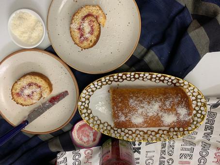Eggless Swiss Roll Cake