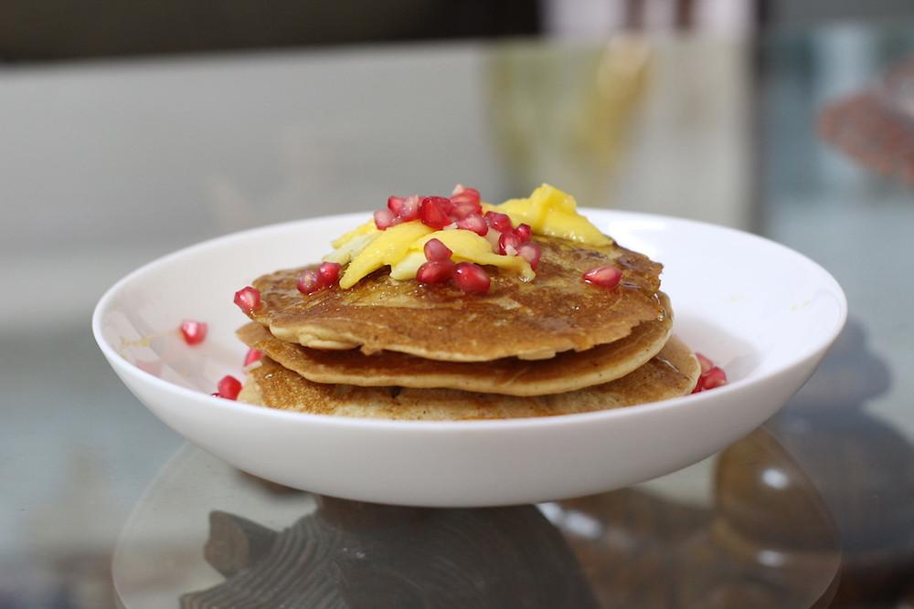 whole wheat pancakes bakeinline