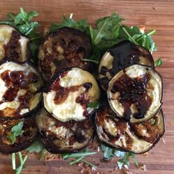 balsamic eggplant sandwich