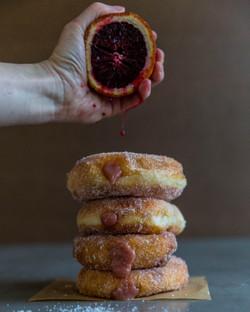 blood orange donuts