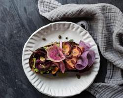 spring vegetable toast