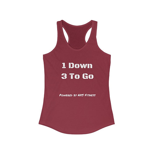 1 Down of Purpose Women's Ideal Racerback Tank