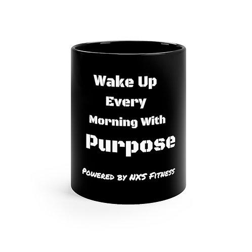 Wake  11oz Black Mug