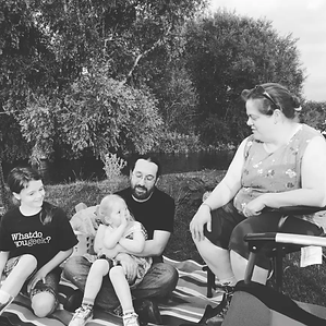 Kimberly and her family (photo by Melanie Reed).