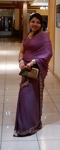 Dressed up for a friend's wedding.