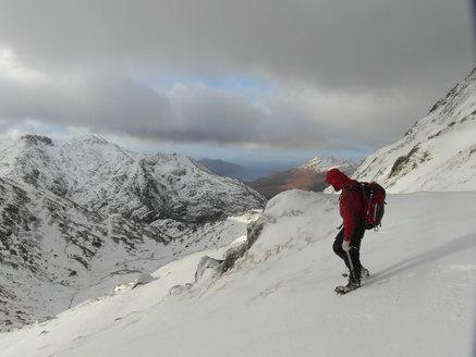 Winter walking in Knoydart, Scotland