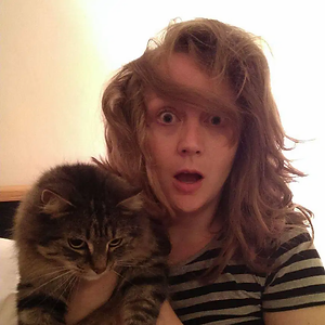 Helen and cat