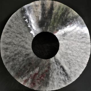 T. 12/01/16, Glas, Papier, Holz, 99 x 99 x 12 cm