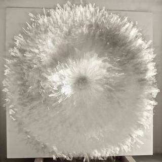 T. 20/05/12, Glas, Holz, 130 x 130 x 30 cm