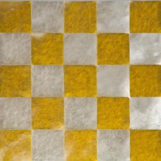 T. 15/03/13, Glas, Pigment, Leinwand, 80 x 80 x12 cm
