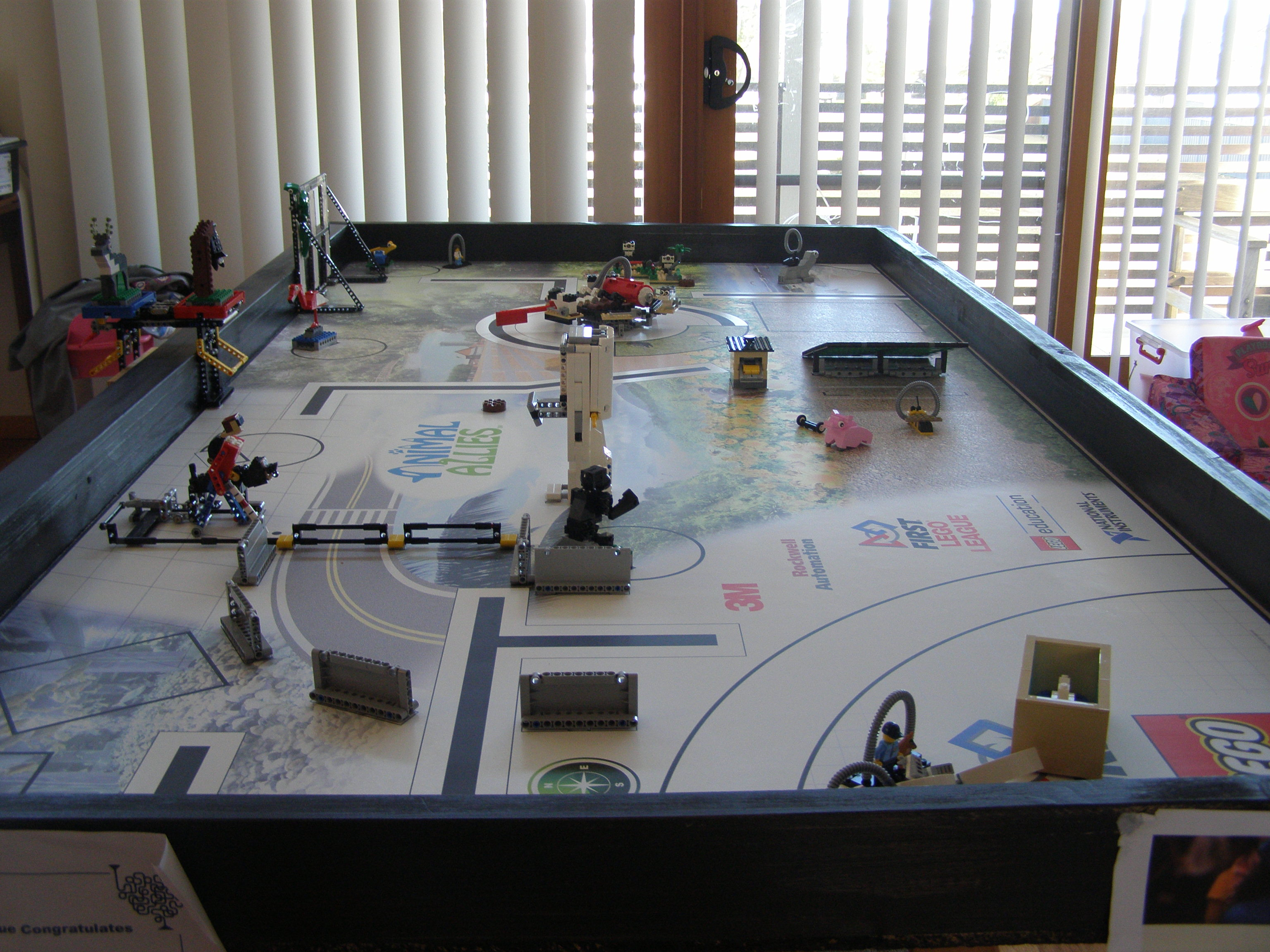 Practise table with mission models
