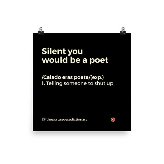 Poster - Calado eras Poeta