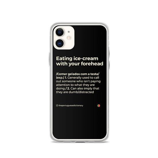 Capa Iphone - Comer gelados com a testa