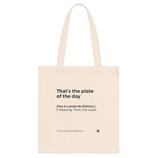 Tote Bag - Prato do Dia