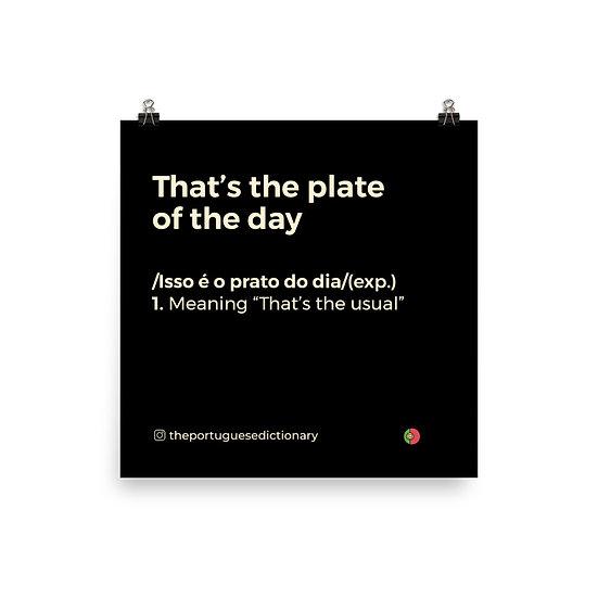 Poster - Prato do Dia