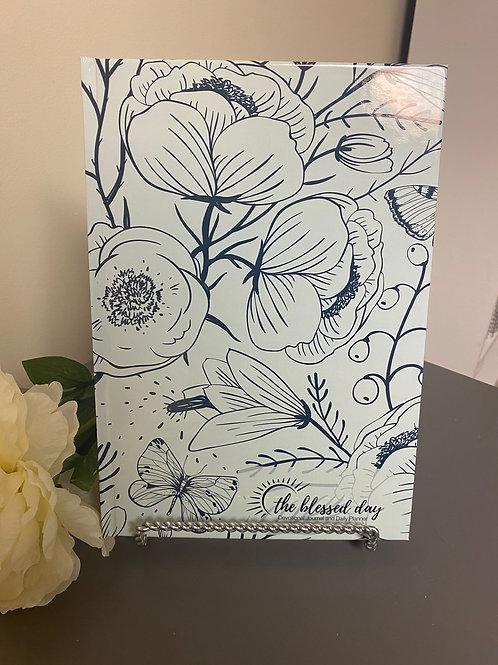 Executive Aqua/Navy Floral