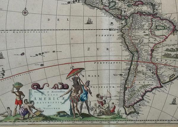 Kaart America's door Nicolaas Visscher (17e eeuw). Collectie Peter van Os