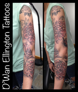 flower sleeve-w