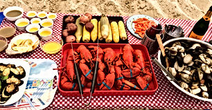 Enjoy a local experience with breathtaking sceneries. Let us take care of all the logistics for you and your guest while you enjoy a harbor cruise with destination to your own private Martha's Vineyard Clambake on the beach.