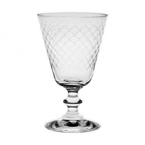 France Fishnet Wine Glass