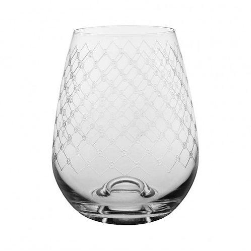 Stemless Fishnet Wine Glass