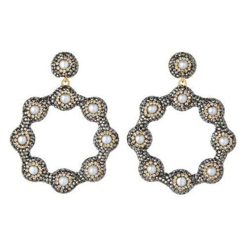 SORU JEWELLERY | Baroque Pearl Hood Earrings
