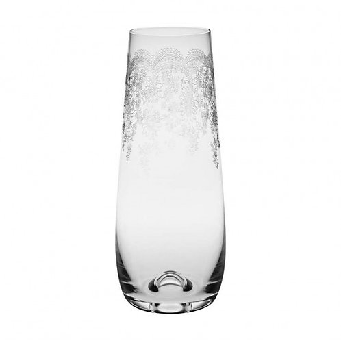 Stemless Floral Engraved