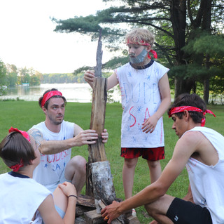 Lumberjack Competition - Build A Log Tower - Dudes S.A.