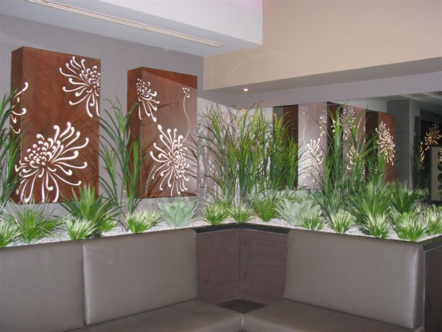 Internal Lounge Garden & Lightboxes