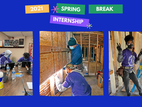 2021 Spring Break Internship Summary!