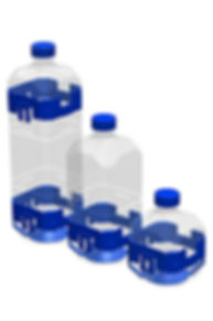 Clicko-Bricke: the basic containers of 0.5, 1 & 1.5 Lt bottles