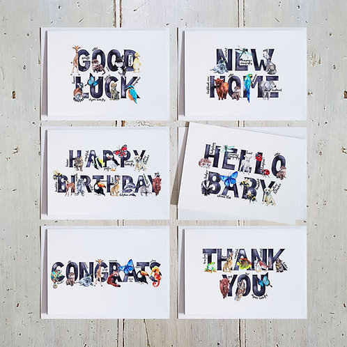 Words card 6 pack