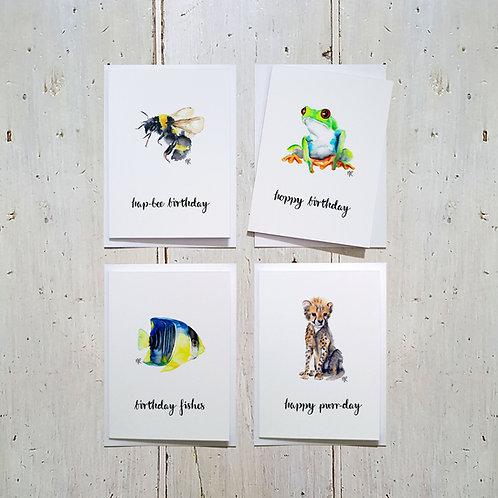 Animal Pun Birthday cards
