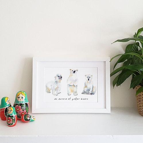 Animal Trio Watercolour Print