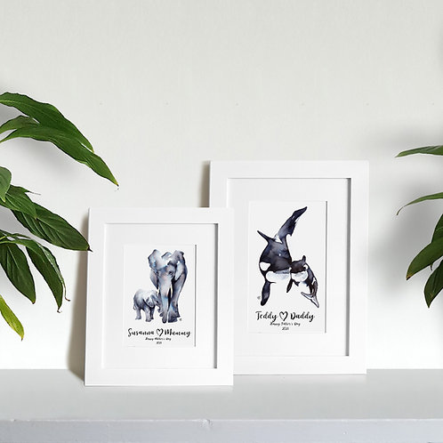 Personalised Animal Hugs Print