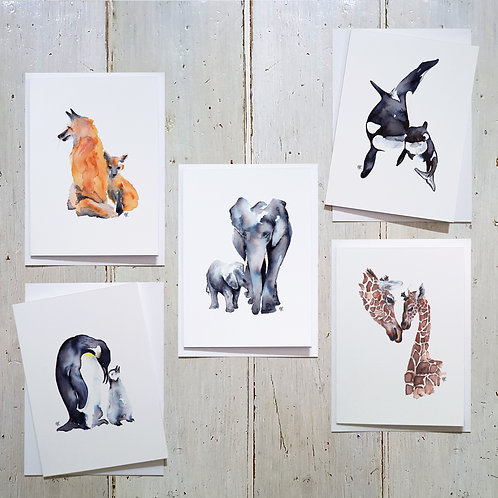 Animal Hugs cards