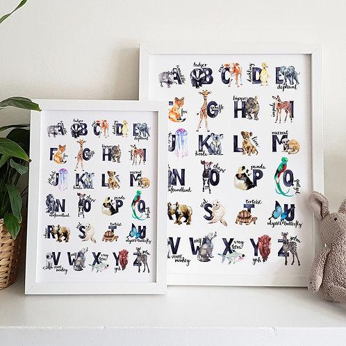 A to Z Animal Print
