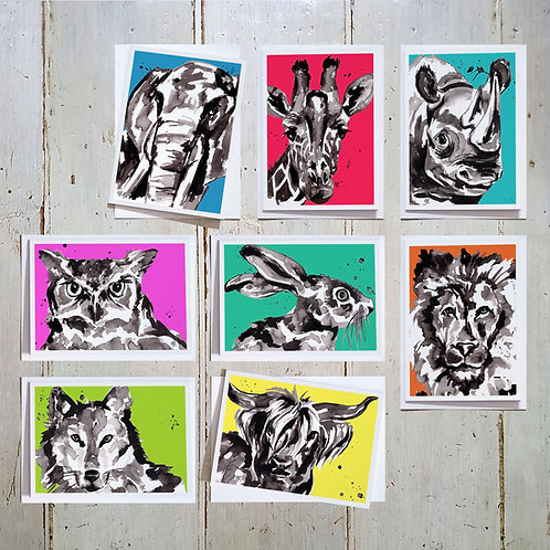 Bright Faces card 8 pack