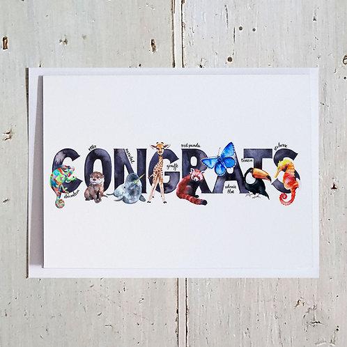 Congrats Word card