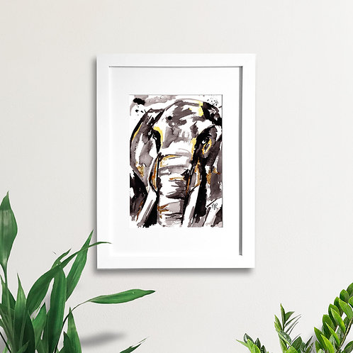 Abstract Elephant Face