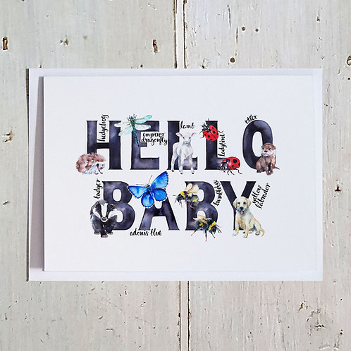 Hello Baby Word card