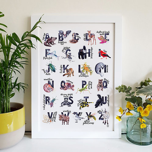 Limited Edition A to Z Animal Print