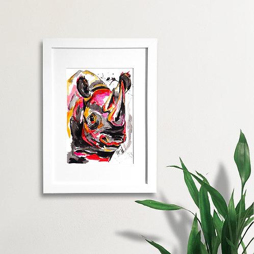 Abstract Rhino Face