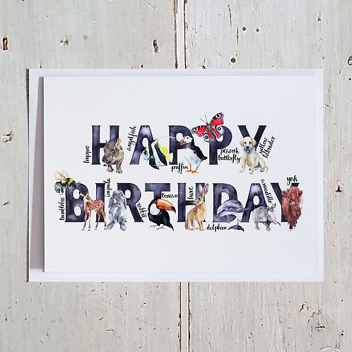 Happy Birthday Word card