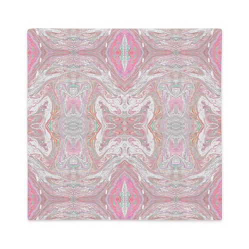 Pale pink marbling