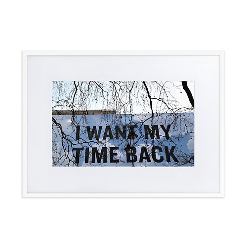 I want my time back