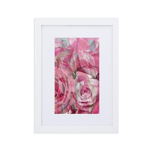 Blending rose with marbling patterns