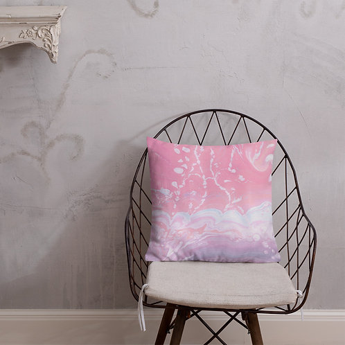 Abstract pink marbling
